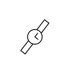 wristwatch icon black on white background vector image