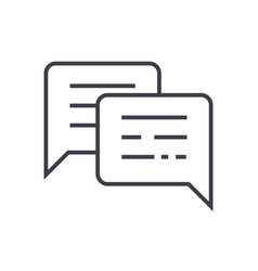 chattingmessages line icon sign vector image vector image