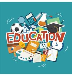 education elements background flat design vector image vector image