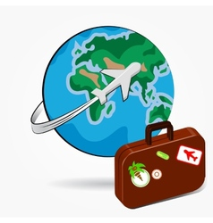 Global travel vector image