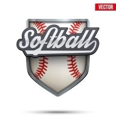 Premium symbol of Softball label vector image vector image