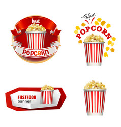 set beautiful cartoon icons and badges of fast vector image vector image