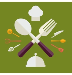 Tableware Serving Utensils icons set great for any vector image
