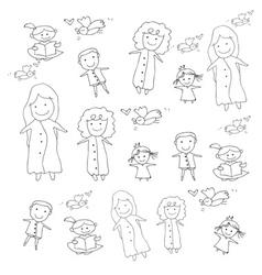 Cartoon concept happy people vector