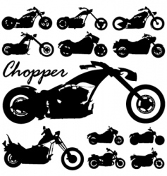 chopper motorcycles vector image