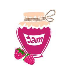 jar of raspberry jam vector image
