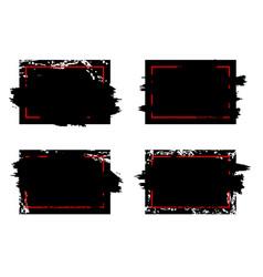 modern dirty grunge brush stroke design frames vector image