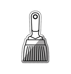 paint brush construction tool vector image vector image