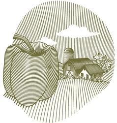 pepper scene vector image vector image