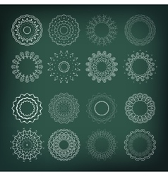 Set of flower shapes 16 elements for your design vector image
