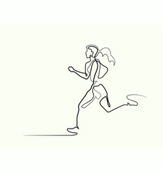 sport running woman vector image vector image