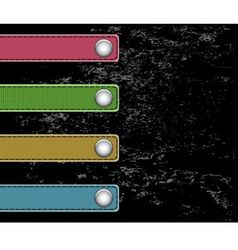 strips of cloth on the buttons vector image