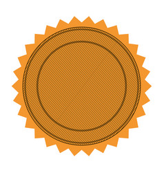silhouette with circular frame and sawtooth vector image