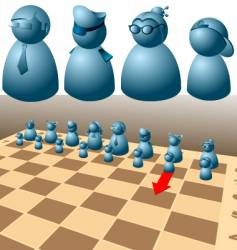 chess game vector image
