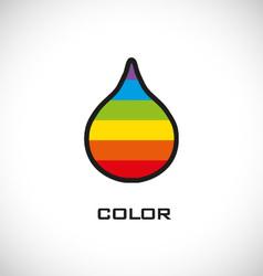 Colorful water drop icon vector