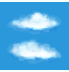 transparent clouds on a blue sky vector image vector image