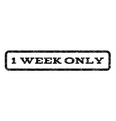 1 week only watermark stamp vector