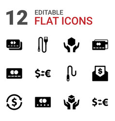 12 transfer icons vector