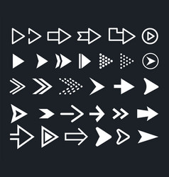 arrow icon set arrows vector image