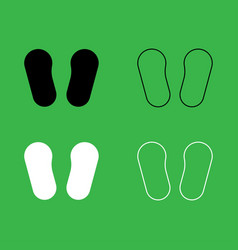 Baby footprint in footwear icon black and white vector