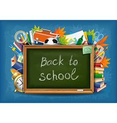 Back to schoo vector image