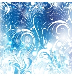 Background of frosty pattern vector image