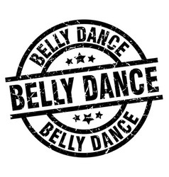 Belly dance round grunge black stamp vector