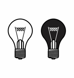 black and white lamps vector image