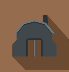 Blacksmith workshop building icon flat style vector