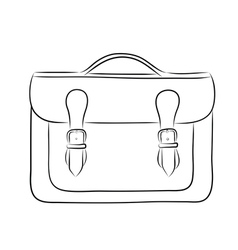 briefcase drawing vector image