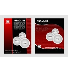 Brochure flyer design set vector