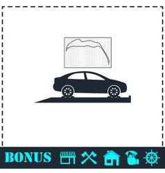 Car diagnostics icon flat vector