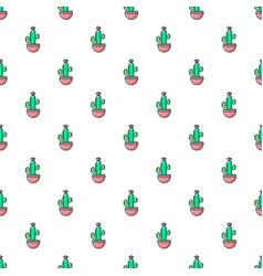 Cephalocereus cactus pattern seamless vector