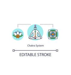 Chakra system concept icon vector