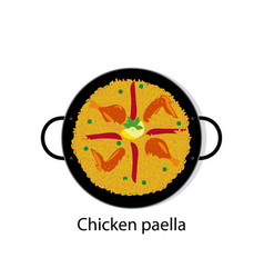 Chicken paella vector