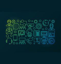 colorful call center and user support vector image