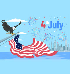 colourful independence day in the vector image