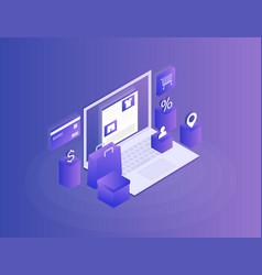 concept of online shop online store vector image