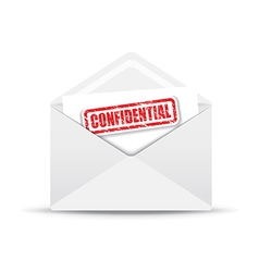 confidential white envelope vector image