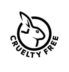 Cruelty free icon with rabbit symbol vector