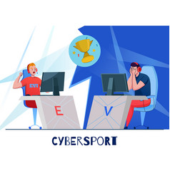 Cyber sport competition composition vector