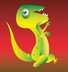 Dinosaur cartoon character vector image