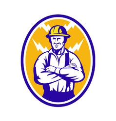 Electrician Construction Worker Lightning Bolt vector