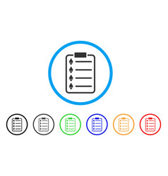 Ethereum list pad rounded icon vector