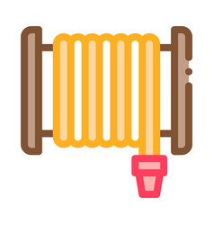 Firehose hose reel icon outline vector