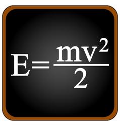 Formula on a black school board vector