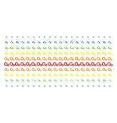gears shape halftone spectrum pattern vector image