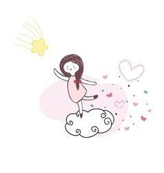girlsmile vector image
