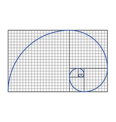 Golden ratio symbol vector