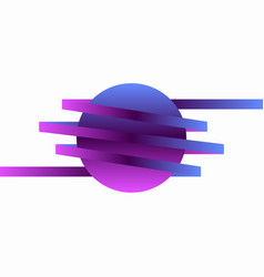 gradient of blue and violet element for company vector image